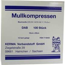Produktbild Mullkompressen 10x20 cm unsteril 12-fach BW
