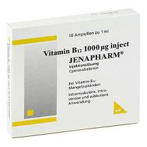 Produktbild Vitamin B12 1000 µg Inject Jenapharm Ampullen
