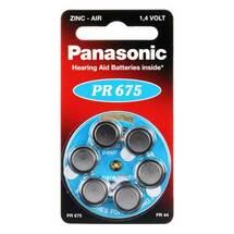 Produktbild Batterien für Hörgeräte Panasonic PR 675