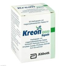 Kreon 10.000 Hartkapseln mit magensaftresistent überzogene Pellets