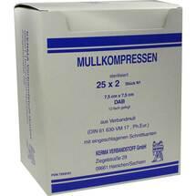 Mullkompressen 7,5x7,5 cm steril 12-fach BW