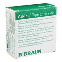 Produktbild Askina Tape Pflaster 10mx2,5cm weiß unelastisch