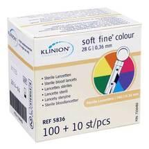 Produktbild Klinion Soft fine colour Lanzetten 28 G