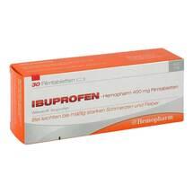 Produktbild Ibuprofen Hemopharm 400 mg Filmtabletten