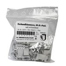 Produktbild Verbandklammern weiß mit Gummiband