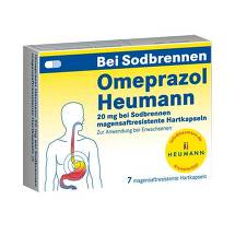 Produktbild Omeprazol Heumann 20 mg b.Sodbr. magensaftresistent Hartk.