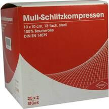 Produktbild Schlitzkompressen Mull 10x10