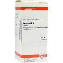 Produktbild Jaborandi D 6 Tabletten