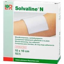 Solvaline N 10x10 cm steril Kompressen