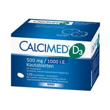 Calcimed D3 500 mg / 1000 I.E. Kautabletten