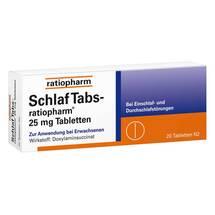 Produktbild Schlaf Tabs ratiopharm 25 mg Tabletten
