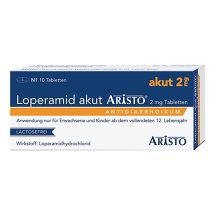 Produktbild Loperamid akut Aristo 2 mg Tabletten