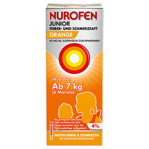 Produktbild Nurofen Junior Fieb. + Schmerzsaft Orange 40mg / ml