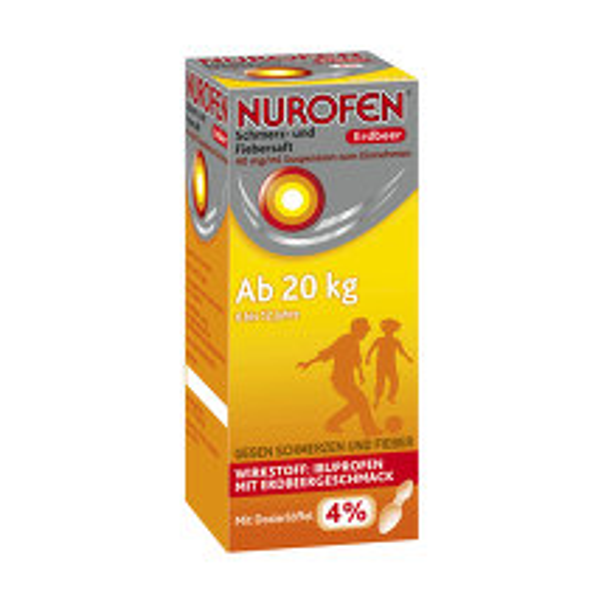 Produktbild Nurofen Schmerz + Fiebersaft Erdbeer 40mg / ml