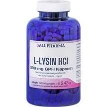 Produktbild L-Lysin 500 mg GPH Kapseln