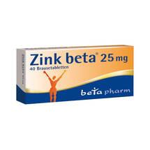 Produktbild Zink Beta 25 Brausetabletten