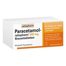 Produktbild Paracetamol ratiopharm 500 mg Brausetabletten