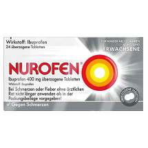 Produktbild Nurofen Ibuprofen 400 mg überzogene Tabletten