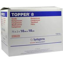 Topper 8 Kompresse steril 10x10 cm