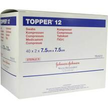 Topper 12 Kompresse steril 7,5x7,5 cm