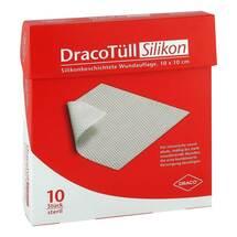 Produktbild Dracotüll Sil.10x10 cm Silikonbes.Wundkont.Auflage
