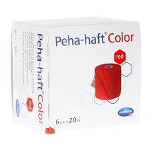 Produktbild Peha Haft Color Fixierbinde latexf.6 cm x 20 m rot