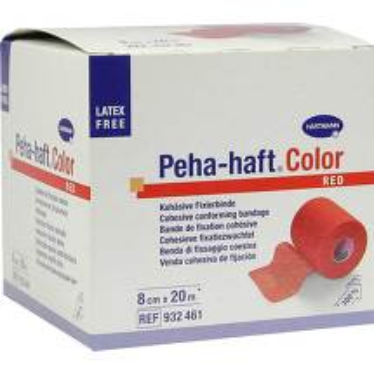 Produktbild Peha Haft Color Fixierbinde latexf.8 cm x 20 m rot