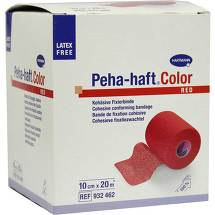 Peha Haft Color Fixierbinde latexf.10 cm x 20 m rot