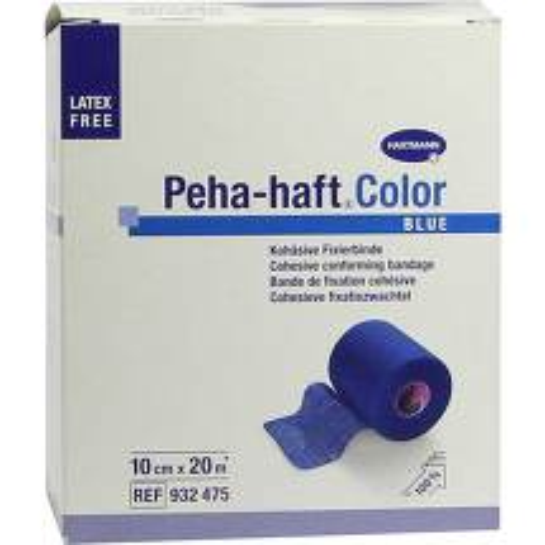 Peha Haft Color Fixierbinde latexf.10 cm x 20 m blau