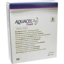 Aquacel Ag Foam nicht adhäsiv 10x10cm Verband