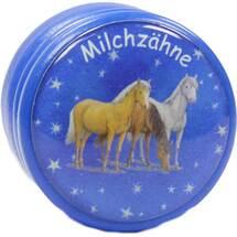Produktbild Milchzahndose Traumpferdchen blau mit Schraubversch.
