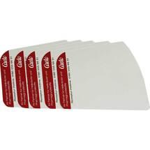 Kartenblätter weiß aus Kunststoff