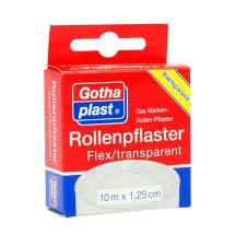 Produktbild Gothaplast Rollenpflaster Flex trp.1,25 cm x 10 m