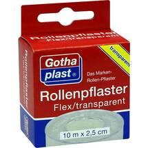 Produktbild Gothaplast Rollenpflaster Flex trp.2,5 cm x 10 m