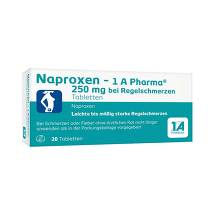 Naproxen 1A Pharma 250 mg bei Regelschmerzen Tabletten
