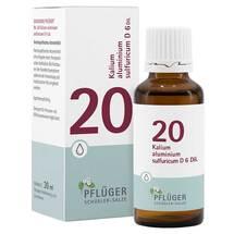 Produktbild Biochemie Pflüger 20 Kalium aluminium sulfuricum D 6 Tropfen
