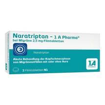 Naratriptan 1A Pharma bei Migräne 2,5 mg Filmtabletten