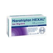 Produktbild Naratriptan Hexal bei Migräne 2,5 mg Filmtabletten