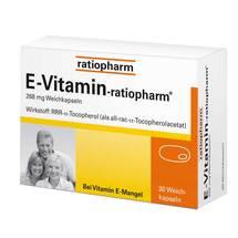 Produktbild E Vitamin ratiopharm Kapseln