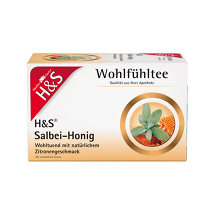 Produktbild H&S Wohlfühltee Salbei Honig mit Zitrone Filterbeutel