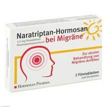 Produktbild Naratriptan Hormosan bei Migräne 2,5 mg Filmtabletten