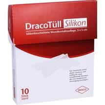 Produktbild Dracotüll Sil.5x5 cm Silikonbes.Wundkont. Auflage
