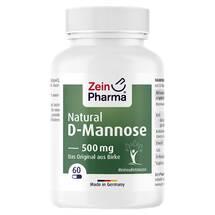Produktbild Natural D-Mannose 500 mg Kapseln