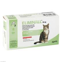 Eliminall 50 mg Lösung z Auftropfen f Katzen vet. (für Tiere)
