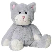 Wärme Stofftier Katze grau