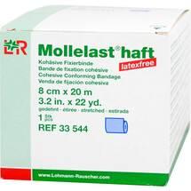 Produktbild Mollelast haft latexfrei 8cmx20m gedehnt blau