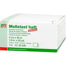 Produktbild Mollelast haft latexfrei 4cmx20m gedehnt weiß