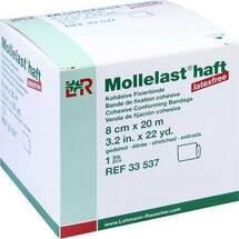 Produktbild Mollelast haft latexfrei 8cmx20m gedehnt weiß