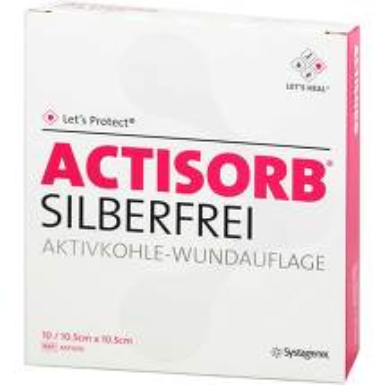 Actisorb Silberfrei 10,5x10,5 cm Kompressen