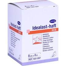 Idealast-haft color Binde 8 cm x 4 m rot